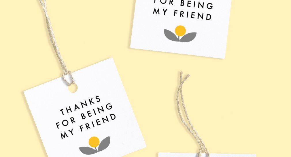 Thanks for Being My Friend Free Printable Tags