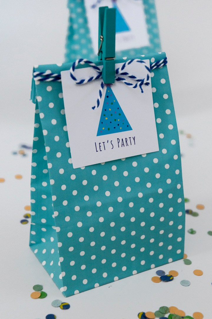 Let's Party Free Printable Gift Tags
