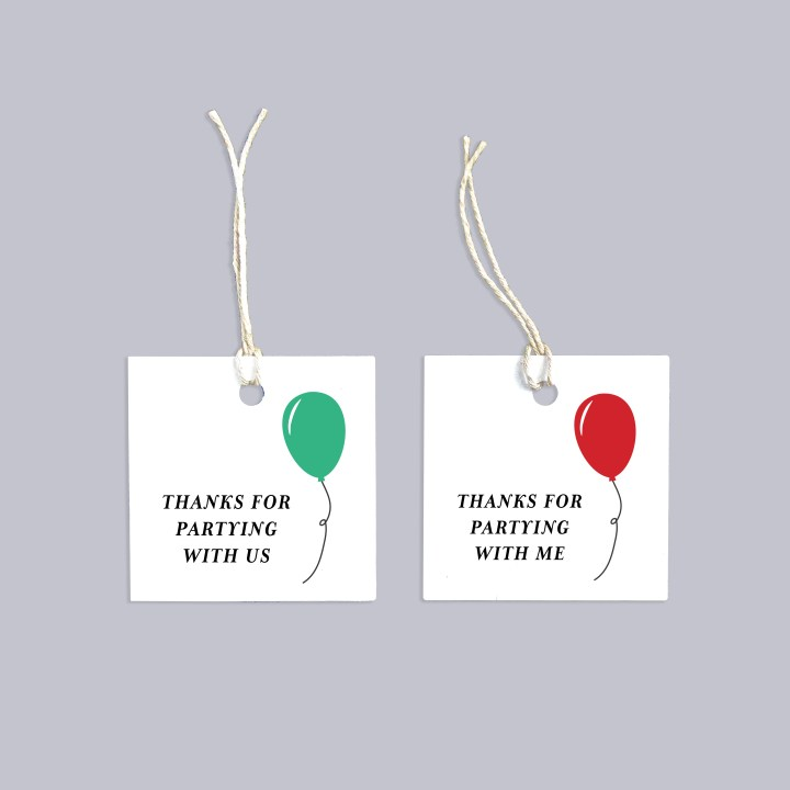Thanks for Partying Free Printable Favor Tags