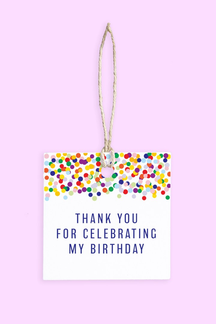 free printable birthday party favor tags
