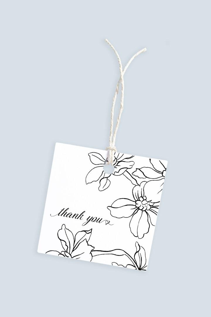 Elegant Floral Thank You Gift Tags | Free Printable