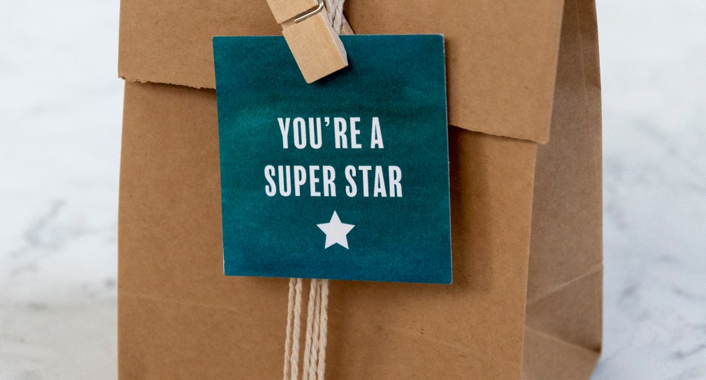 You are a superstar gift tag