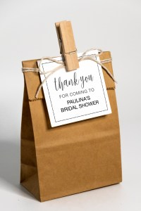 Free Printable and Editable Thank You for Coming to Her Shower Gift Tags