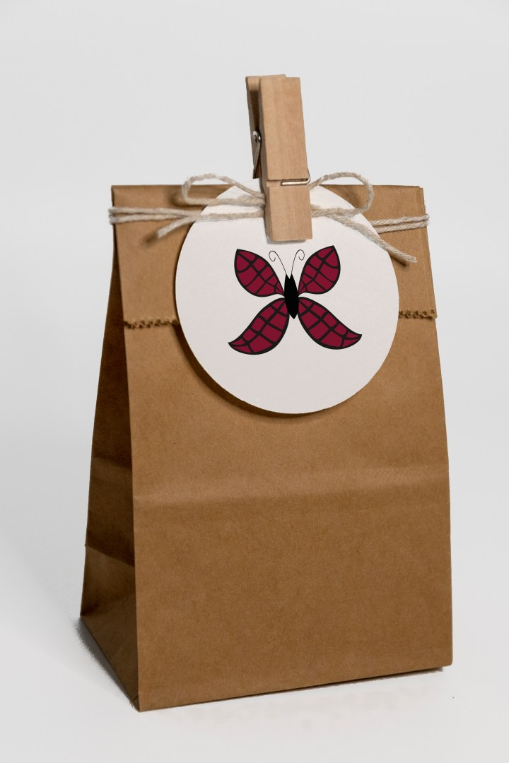 Pretty Stylized Butterfly Gift Tags