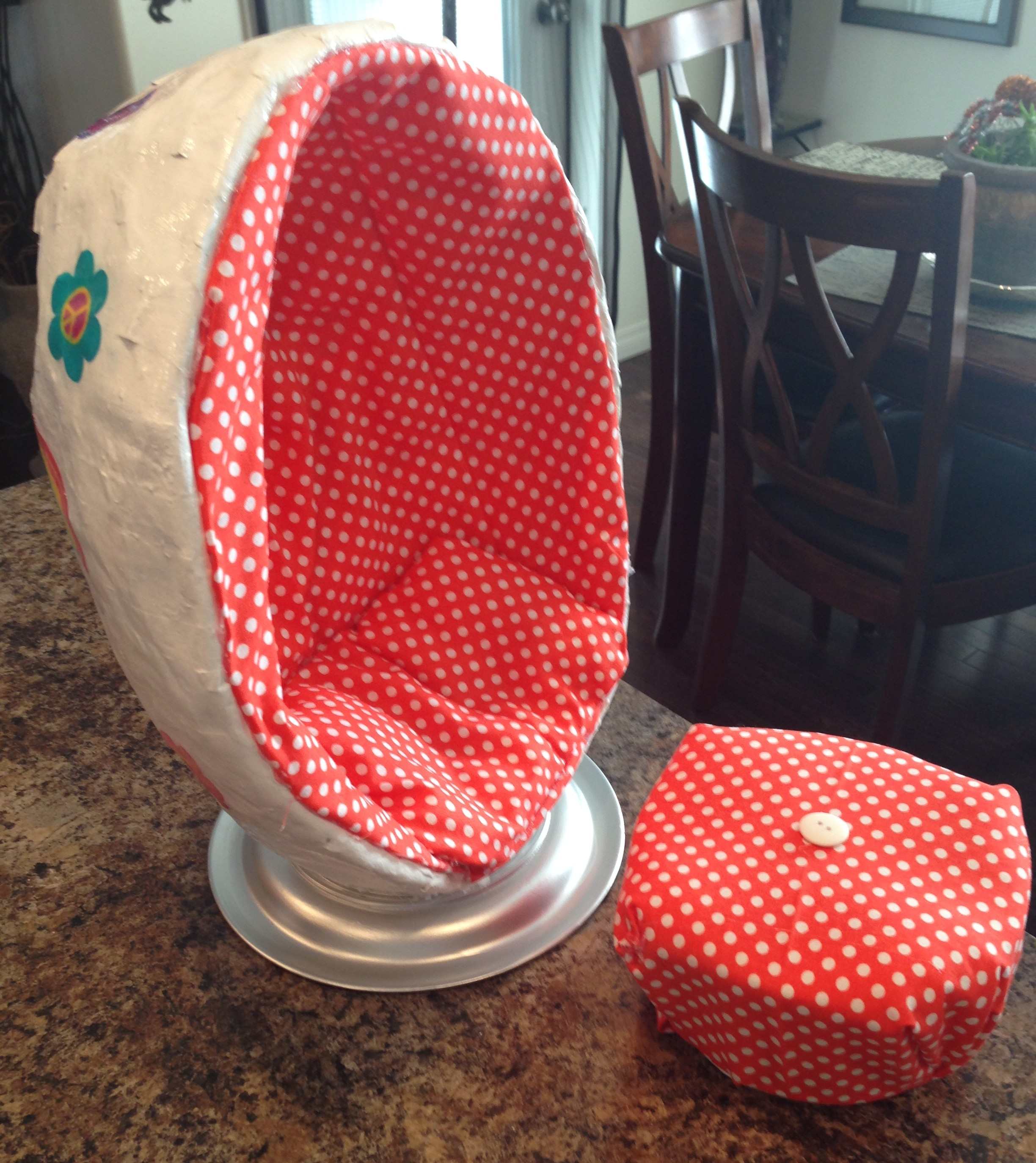 Egg Chair With Speakers Diy Julies Egg Chair Faking It Mostly