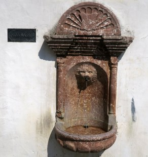 An old drinking fountain in Oberndorf.