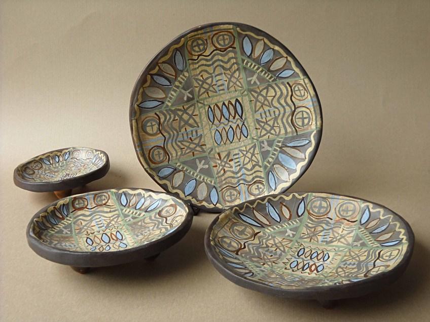 рисувани чинии