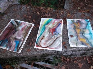 Рисунки, пленер, акварели.