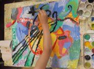 Детска рисунка по известен художник.