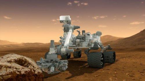 Марсоход Curiosity успешно приземлился на поверхность Марса.