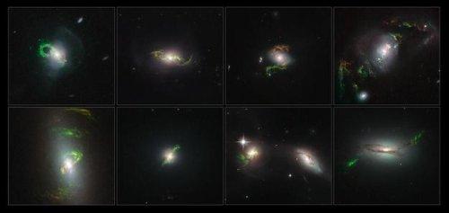 ➲ Фотографии телескопа «Хаббл» — призрачные следы, оставленные квазарами, существующих в далеком прошлом