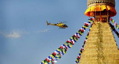 Пропавший в Гималях вертолёт упал в Непале