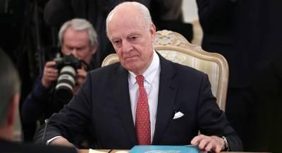Де Мистура уходит с поста спецпосланника ООН по Сирии
