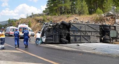 В Турции погибли пассажиры перевернувшегося автобуса