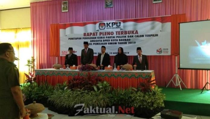 KPU Baubau umumkan calon