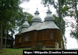 Греко-католицька церква св. Димитрія в селі Явірник-Руський, на батьківщині Михайла Вербицького