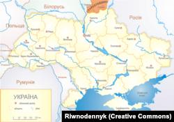 Стародубщина на мапі сучасної Східної Європи. Із 1919 року Стародубщина є частиною Росії