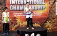 Jovem lutador de Kung Fu conquista medalha de ouro para Caraguatatuba