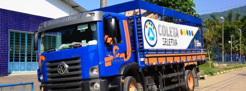 Mais de 1,6 mil toneladas de material reciclável já foram recolhidos pela Coleta Seletiva em Caraguatatuba
