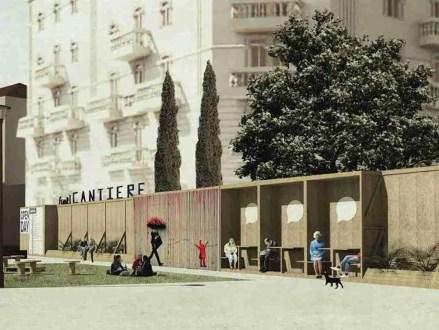 Fuori cantiere: di un muro, uno spazio pubblico (primo progetto più votato)