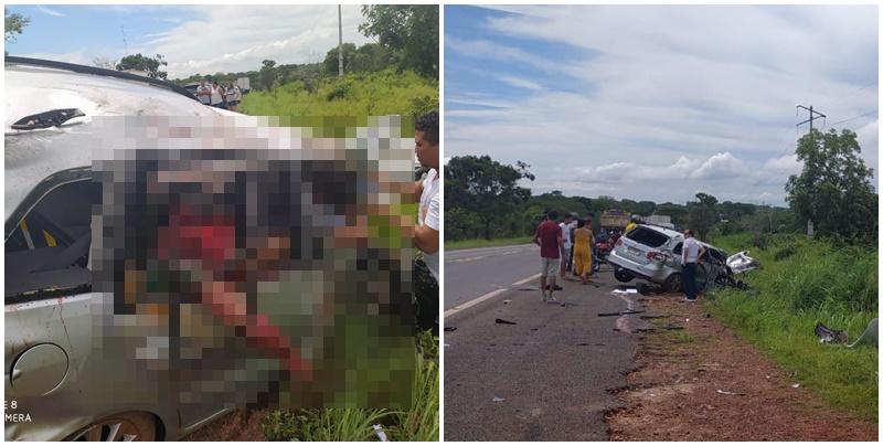 Pastor sobrevive e homem morre em grave acidente na BR-316