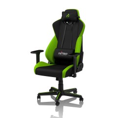 Gaming Chairs Pc World Pink Bean Bag Nitro Concepts S300 Fabric Chair Atomic Green Black