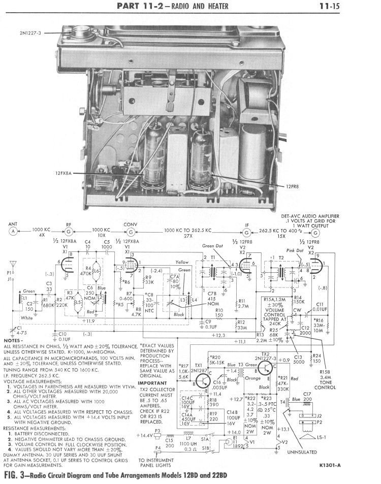 Repair Notes for Bendix Model 22BD AM Radio
