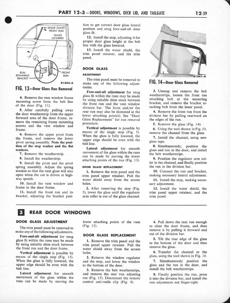 Falcon Shop Manual 1960-62: Page 12-039