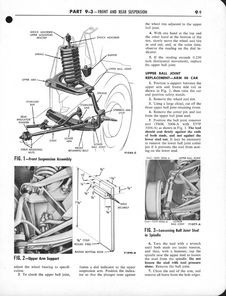 Falcon Shop Manual 1960-62: Page 9-009