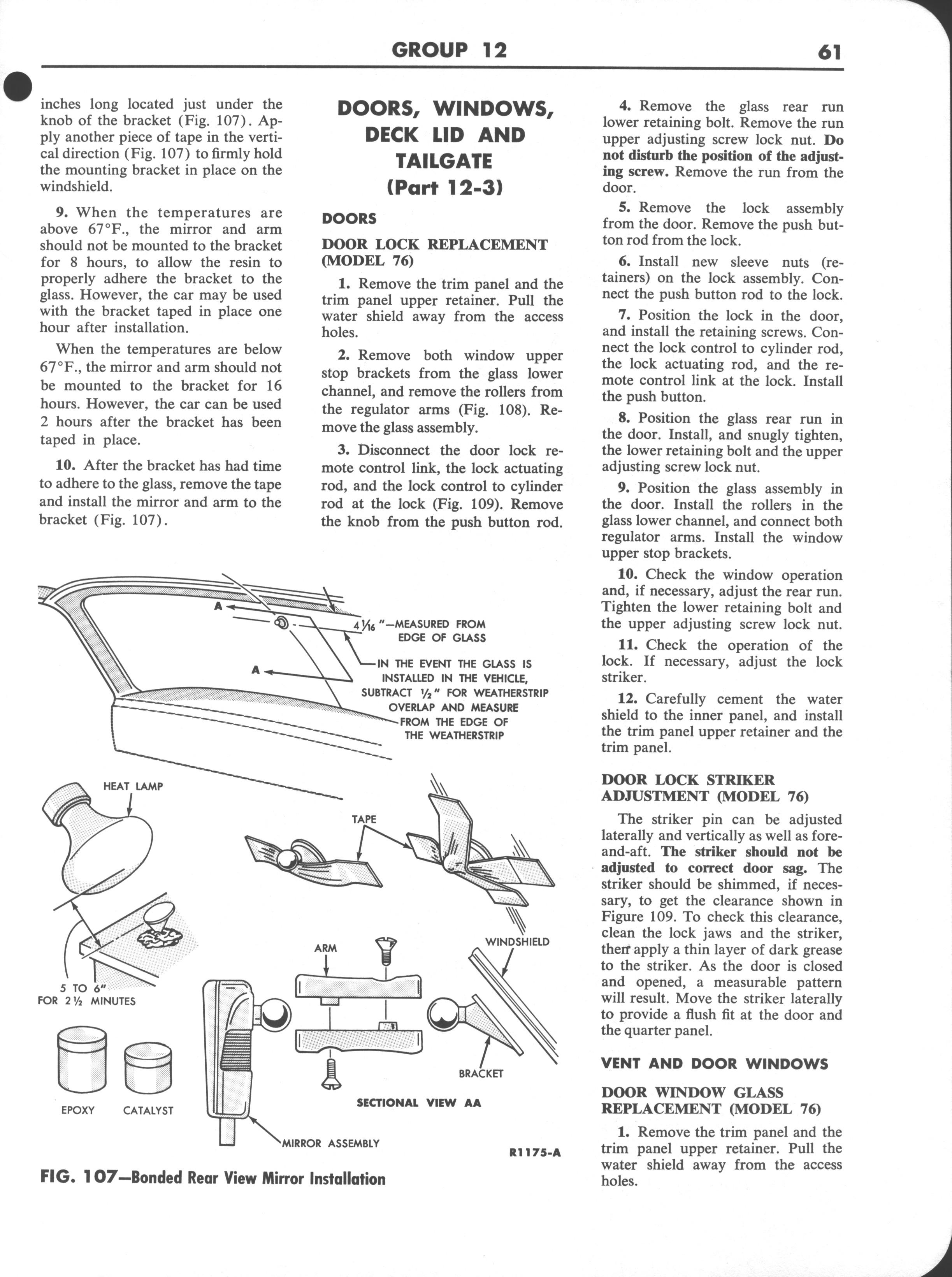 Falcon Shop Manual Supplement, 1963: Page 61