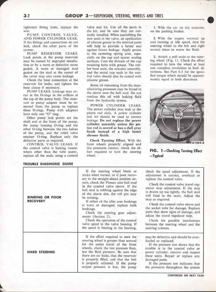 Falcon Shop Manual, 1964: Page 3-002