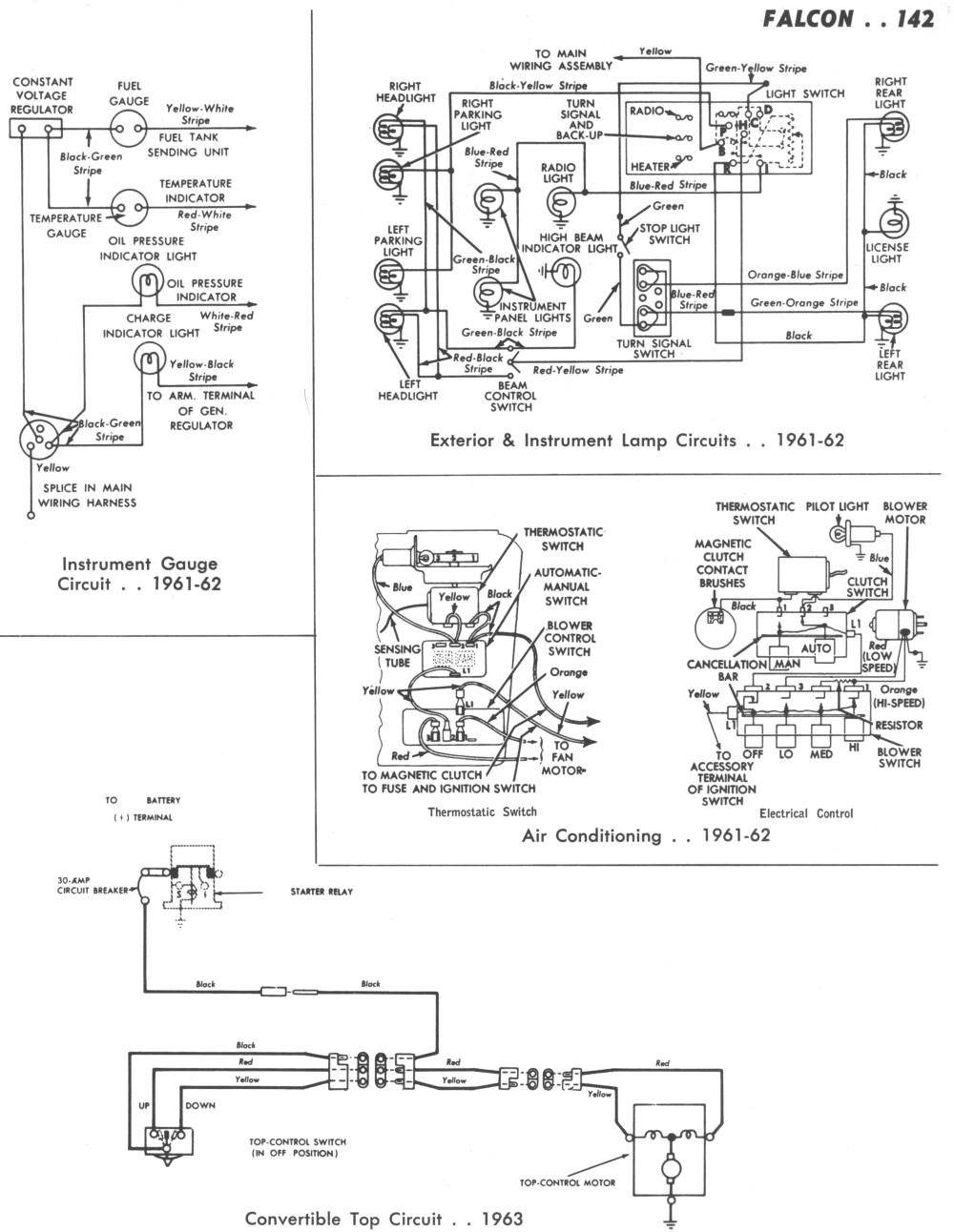 medium resolution of falcon wiring diagrams ford steering column repair 65 ford steering column wiring