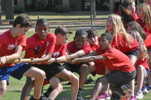Tug of war at private school field day 2021