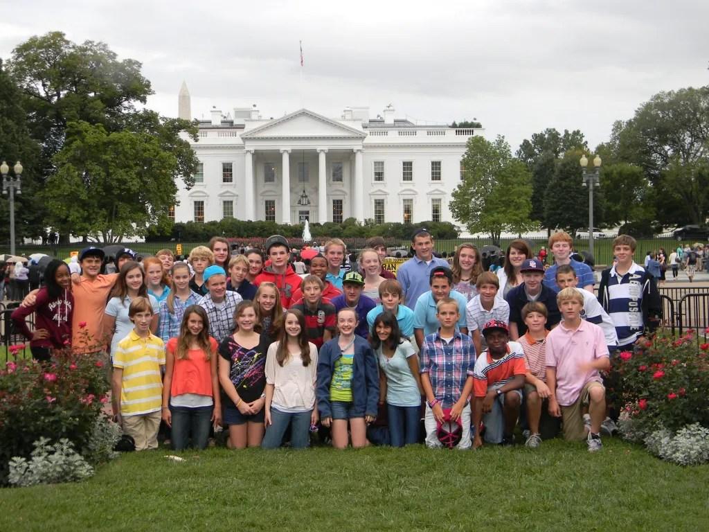 The eighth grade class trip to Washington, D.C. - 2011