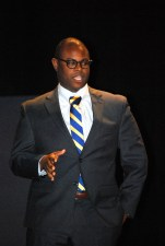 Jamaal Sebastian-Barnes '05 founder of the ONVO, returns to speak to students in 2013.