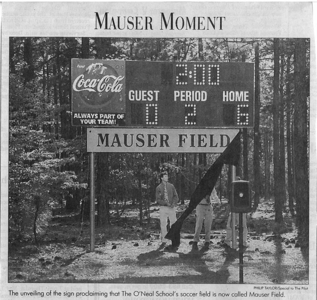 Mauser Field Dedication 2001