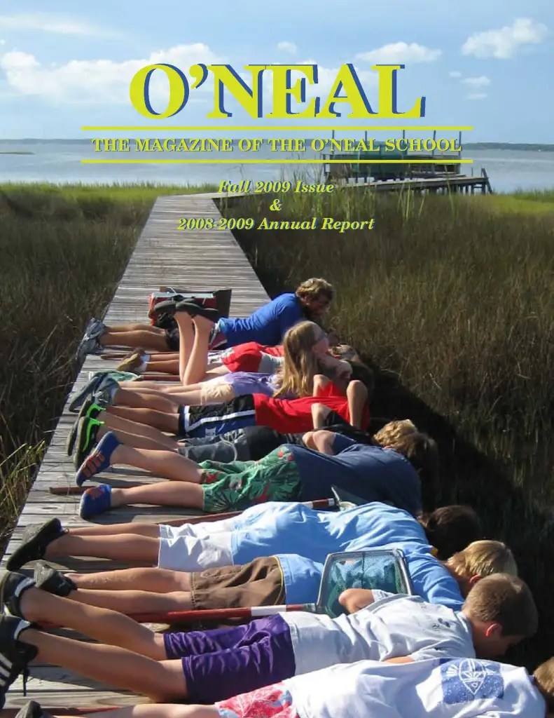 O'Neal Magazine 2009 - Sixth Grade CLass Trip
