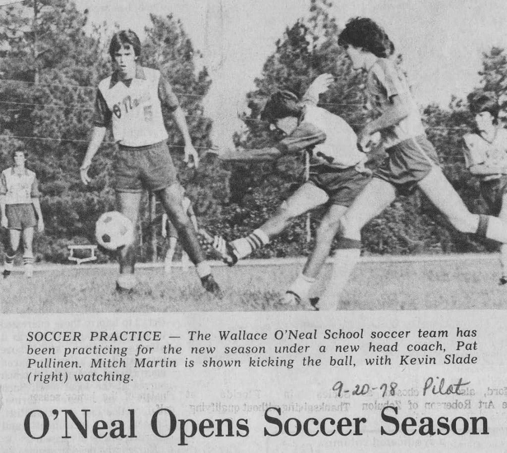 Varsity Boys Soccer 1978