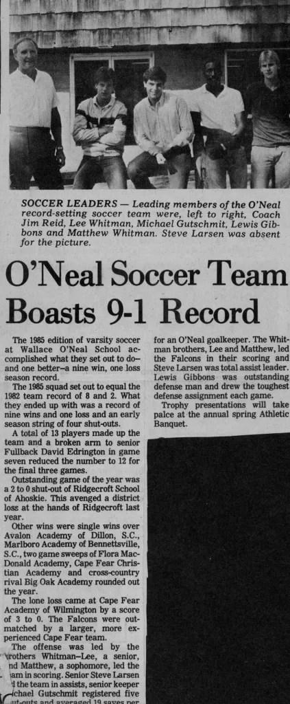 1985 boasts best record.