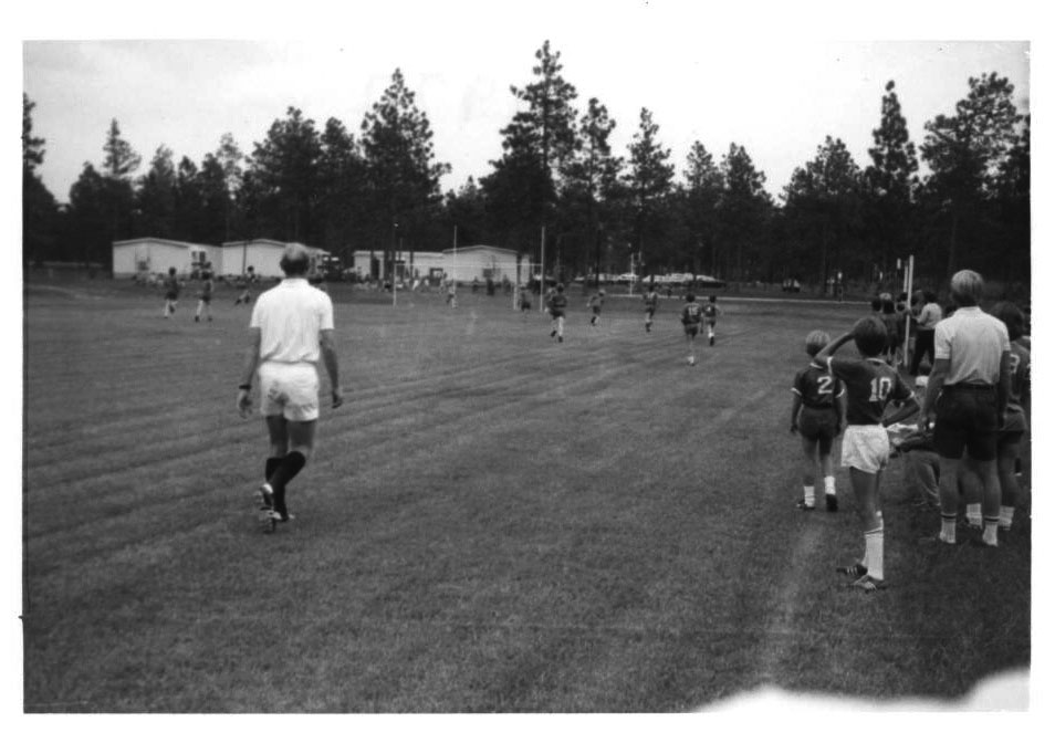 Soccer game at O'Neal in 1972.