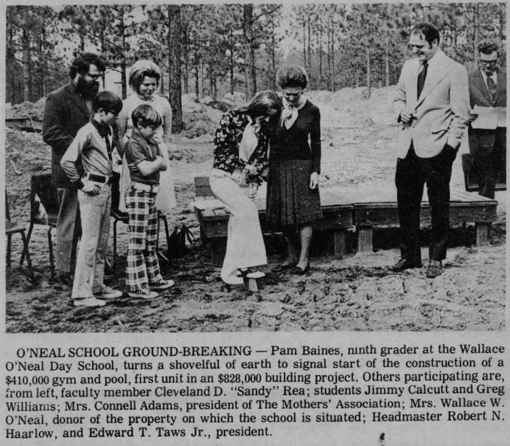 Mothers' Association was represented at the groundbreaking of O'Neal's first brick and mortar building in 1974.