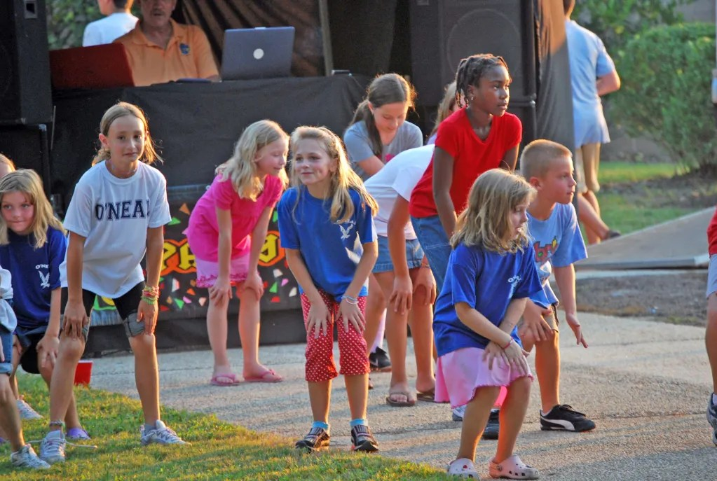 A DJ and line dancing was always offered at the picnic. This is 2010.