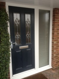 Blue composite door and side panel | Falcon windows