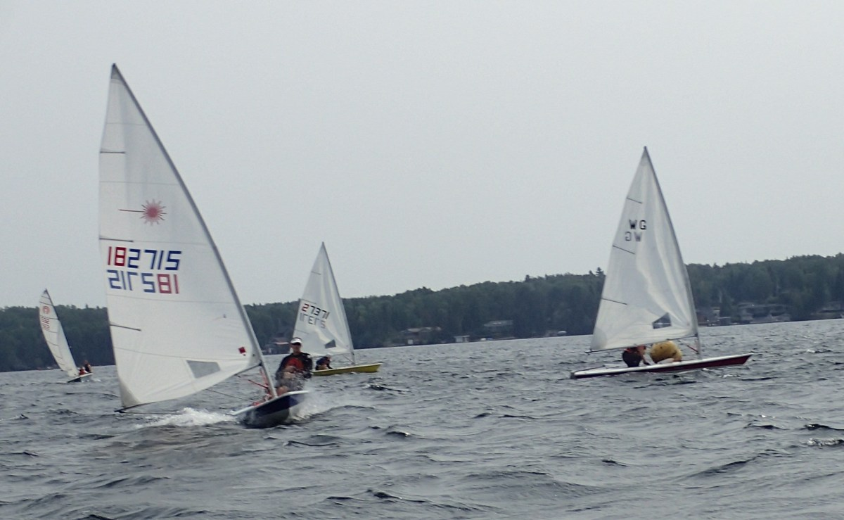 Sailors ready for start of racer