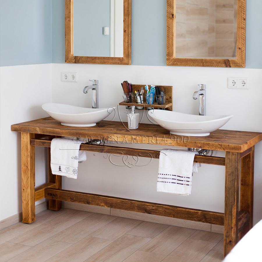 Mobili bagno in legno mobile bagno su misura con fianchi curvi a