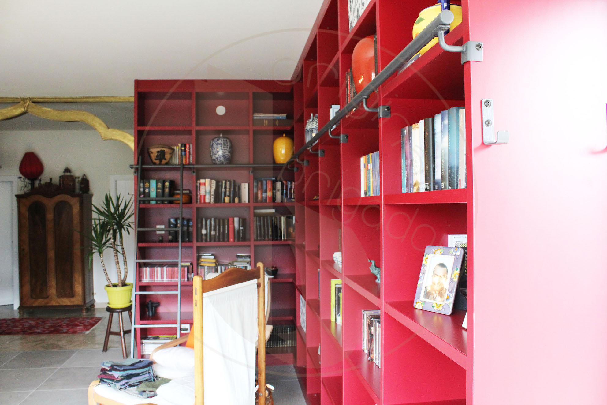 libreria moderna arredamenti brigadoi falegnameria val di fiemme trentino