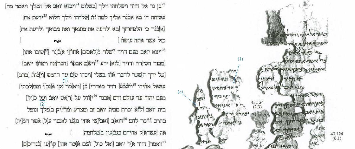 Fragmento de 2 Samuel