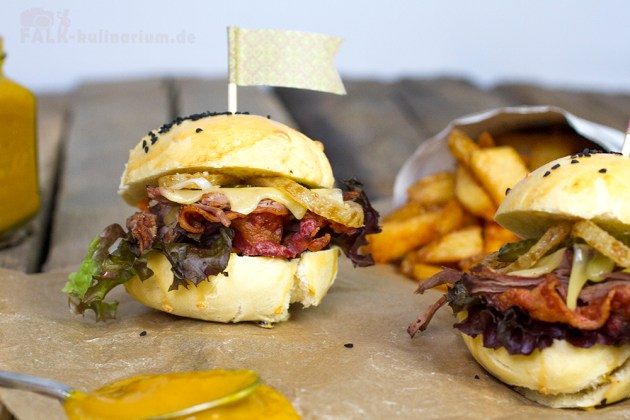 Pulled  Beef Heart Attack Burger