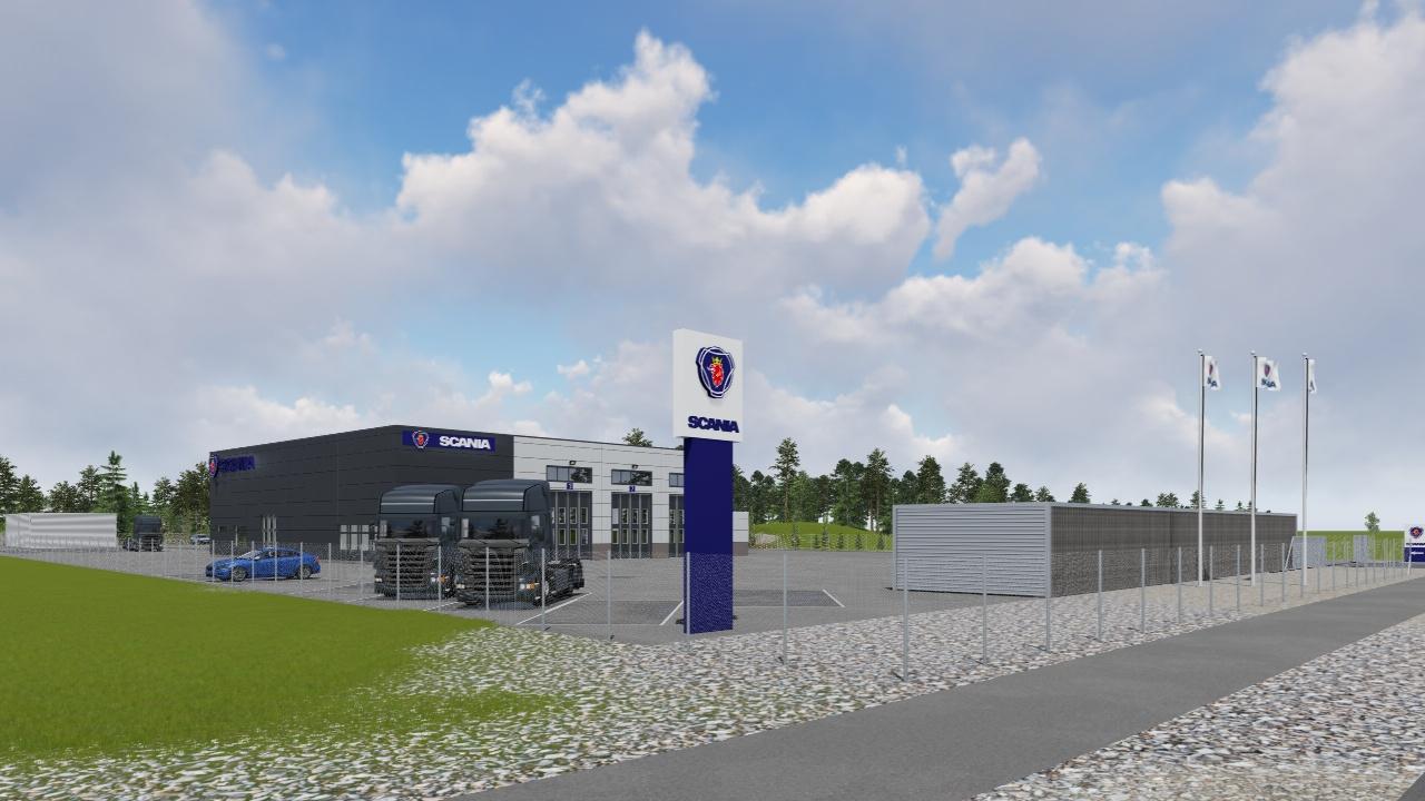 Nybyggnad Servicehall Scania, Norrtälje