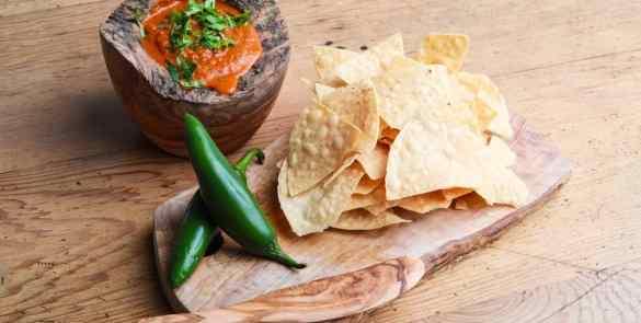 Tortillachips med melormemel